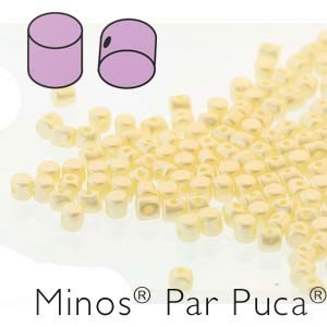 MINOS 2.5x3MM PASTEL CREAM - PAR PUCA BEADS