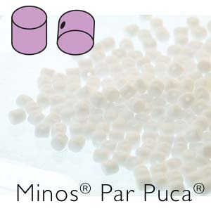MINOS 2.5x3MM OPAQUE WHITE - PAR PUCA BEADS