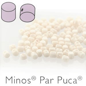 MINOS 2.5x3MM WHITE LUSTRE - PAR PUCA BEADS