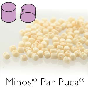 MINOS 2.5x3MM ORANGE CHALK LUSTRE - PAR PUCA BEADS